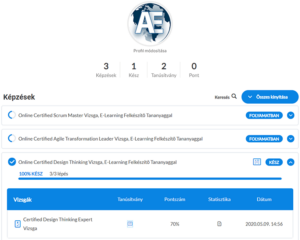 Agile Exam Center - Profil, Képzések