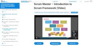 Scrum Master képzési video számítógépen