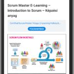 Scrum Master képzési anyag mobil telefonon
